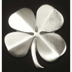 Four Leaf Clover Wall Hanging Satin Nickel Silver