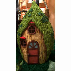 Garden Fairy Leprechaun Home. Working Door