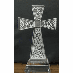 Glass Celtic Cross 6.5""