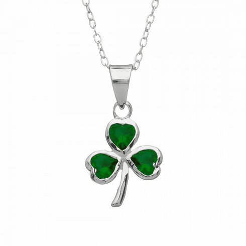 Glass Shamrock Pendant