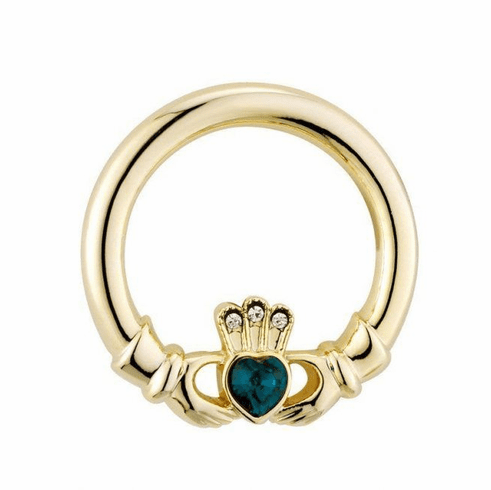 Gold Plated Claddagh Brooch