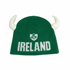 Green Ireland Knit Hat With Horns