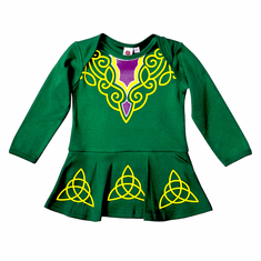 Green Irish Dancer Dress Baby Vest