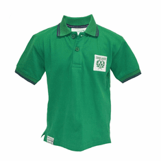 Green Kids Rugby Polo Shirt