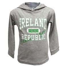 Grey Kids Republic of Ireland Hoodie