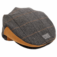 Patrick Francis Grey Tweed Flat Cap