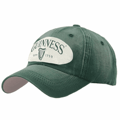Bottle Green Distressed Patch Baseball Cap
