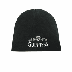 Guinness Black Beanie Hat with Logo