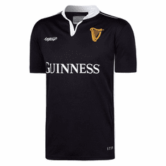 Guinness Black Embossed Print Rugby Jersey