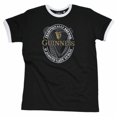 Guinness Black English Label Tee Shirt