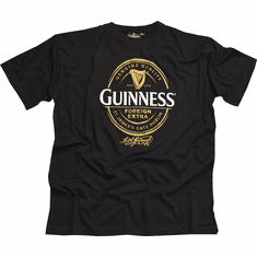 Guinness Black & Gold Vintage Label T-Shirt