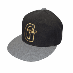 Guinness Black/Grey Snapback Cap