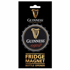 Guinness Black Screw Cap Bottle Opener Fridge Magnet