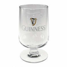 Guinness Embossed Stem Glass
