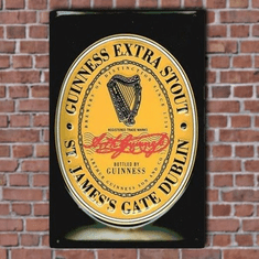 Guinness English Label Sign