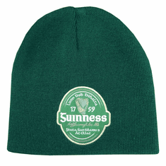 Guinness Green Beanie Hat with Irish Label