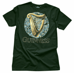 Guinness Green Harp Label Tee Shirt