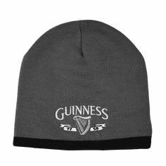 Guinness Grey Beanie Hat With Logo