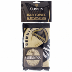 Guinness Label Bar Towel & Coasters