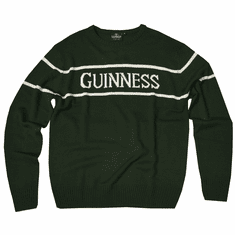 Guinness Label Bottle Green Sweater
