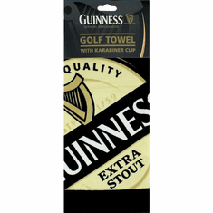 Guinness Label Golf Towel