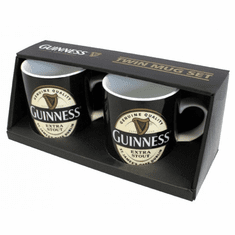 Guinness Label Twin Mini Mug Set