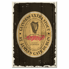 Guinness Label Wooden Sign