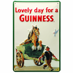 Guinness Metal Sign with Horse & Cart