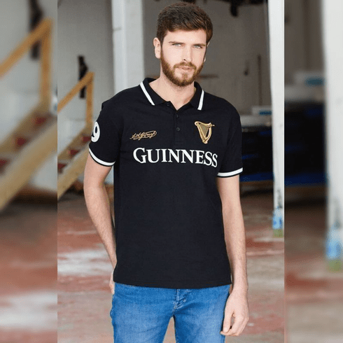 Guinness Official Merchandise Classic Rugby Shirt