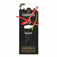 Guinness Pint Resin Christmas Decoration