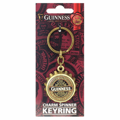 Guinness Red Bottle Cap Opener Keyring