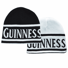 Guinness Reversible Black And White Beanie