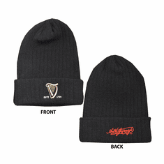 Guinness Ribbed Knit Beanie Hat