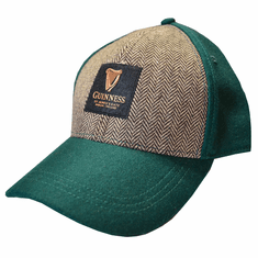 Bottle Green Guinness Tweed Baseball Cap