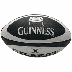 Guinness White and Black Rugby Ball
