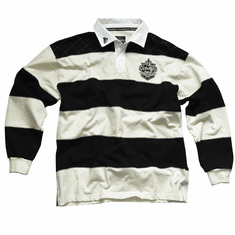 Guinness White and Black Striped Rugby Jersey