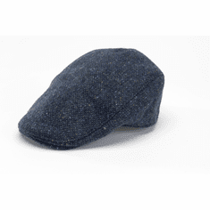 Hanna Hats Donegal Touring Cap Blue Tweed