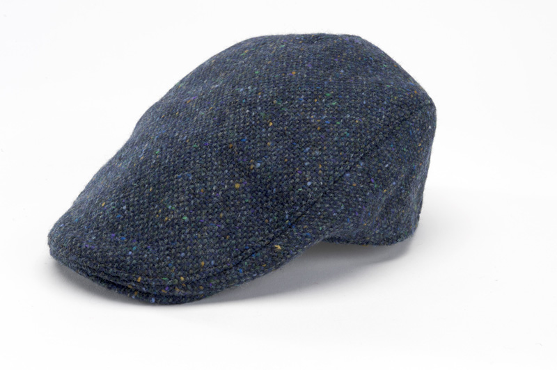 b6d7517cce52d Hanna Hats Donegal Touring Cap Blue Tweed