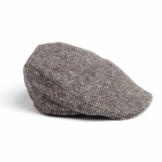 Hanna Hats Donegal Touring Cap Gray Tweed
