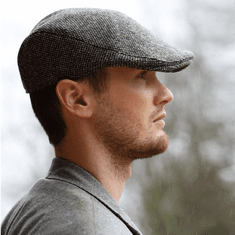 Hanna Hats Donegal Touring Tweed Cap Grey