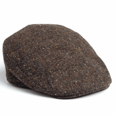 Hanna Hats Donegal Touring Cap Tweed Salt and Pepper