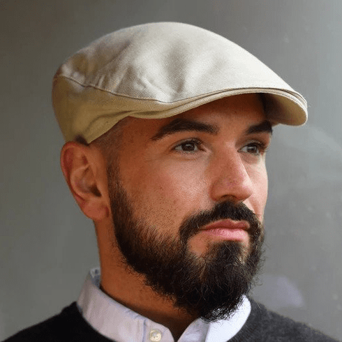 Hanna Hats Donegal Touring Tweed Linen Sand Cap