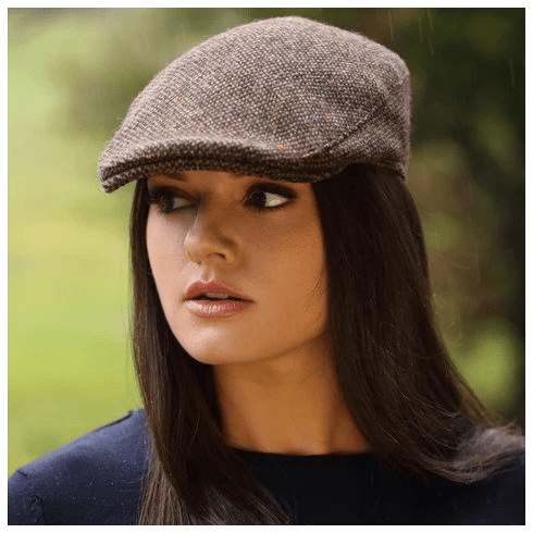 Hanna Hats Irish Donegal Touring Cap Brown