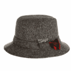 Hanna Hats Donegal Tweed Walking Hat