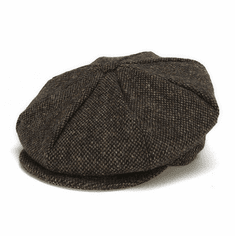Hanna Hats Eight Piece Cap Brown Salt and Pepper