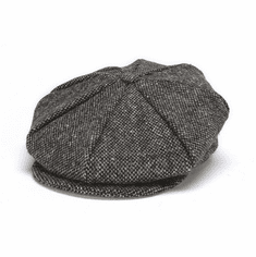 Hanna Hats Eight Piece Cap Grey Salt and Pepper