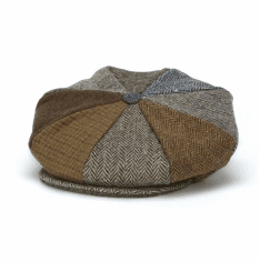 Hanna Hats Eight Piece Flat Cap Patch Toning