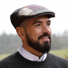 Hanna Hats Patchwork Tweed Donegal Touring Cap