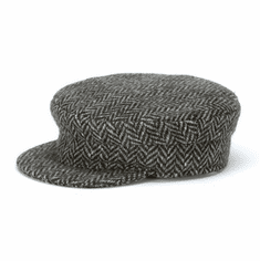 Hanna Hats Skipper Cap Grey Herringbone