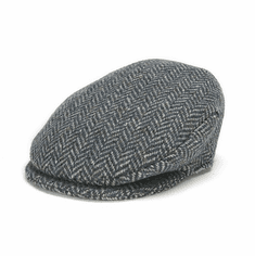 Hanna Hats Vintage Caps Herringbone Black